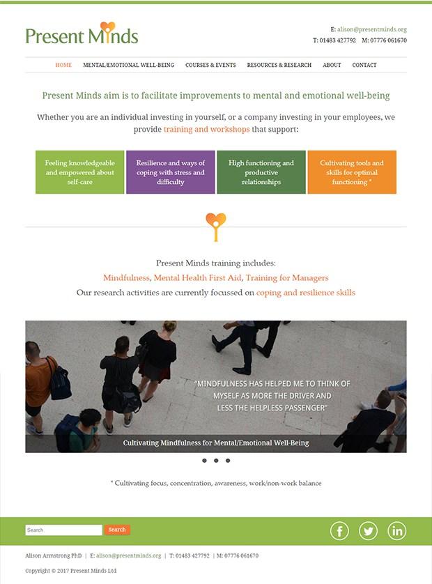 Present Minds - Maggie Greene Web Design