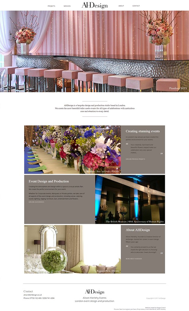 AHDesign - Event Design & Production